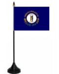 Kentucky Desk / Table Flag with plastic stand and base.